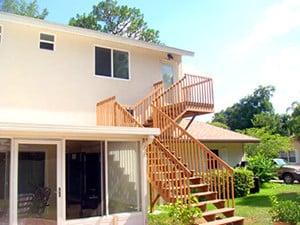 Wooden Stairway - Quick Investment Enterprises - https://quickinchome.com